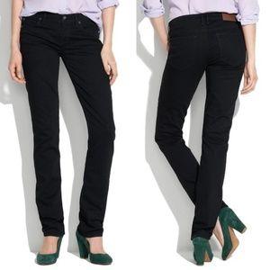 Madewell Rail Straight Black Jeans 30x32